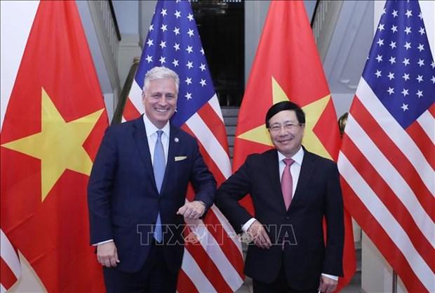 范平明与美国国家安全顾问罗伯特·奥布莱恩举行会谈 hinh anh 1