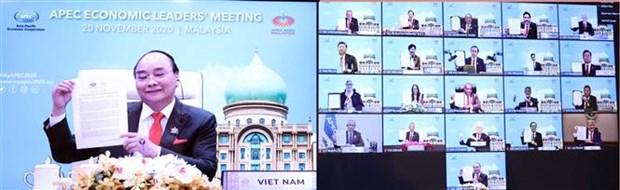 APEC各成员经济体通过未来20年合作的《2040年APEC布特拉加亚愿景》 hinh anh 1