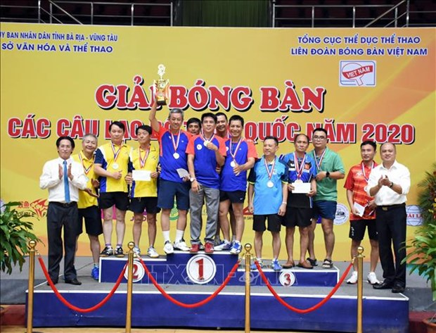 2020年越南乒乓球俱乐部比赛圆满落幕 hinh anh 1