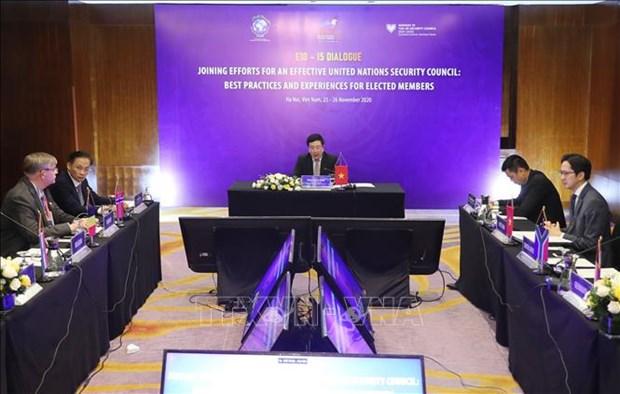 联合国安理会非常任理事国加强有关解决全球性问题的合作 hinh anh 1