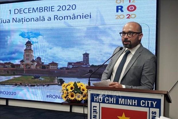 胡志明市举行罗马尼亚国庆102周年纪念活动 hinh anh 1