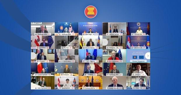 东盟-欧盟关系提升为战略伙伴关系 hinh anh 1