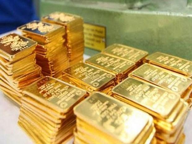 今日上午越南国内黄金价格徘徊在每两5500万越盾附近 hinh anh 1