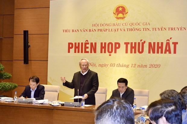 越南国家选举委员会法律文件与信息宣传工作组召开第一次会议 hinh anh 1