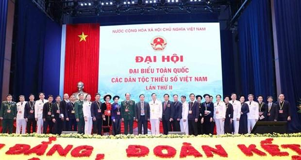 2020年第二届越南少数民族全国代表大会闭幕 通过大会的决心书 hinh anh 1