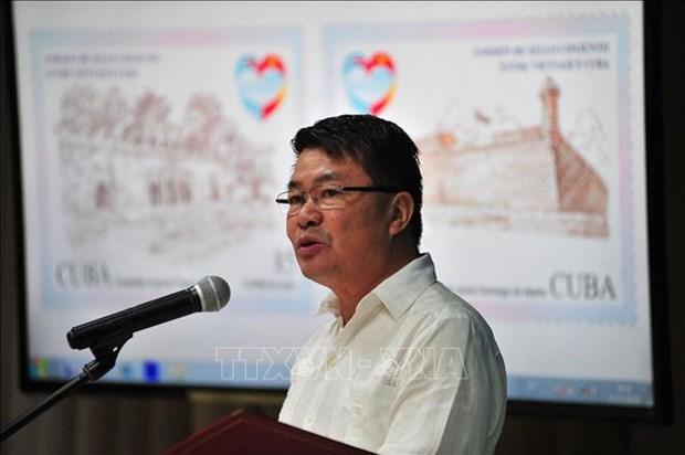 """""""越南-古巴联合发行邮票""""首发仪式在哈瓦那举行 hinh anh 1"""