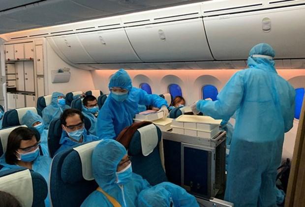 新冠肺炎疫情:将在俄罗斯的近300名越南公民接回国 hinh anh 1
