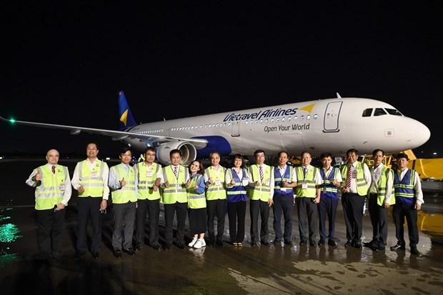 越游航空公司在新山一国际机场接收首架飞机 hinh anh 1