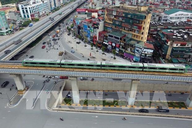河内轻轨吉灵—河东线将于12月12日试运行 hinh anh 1
