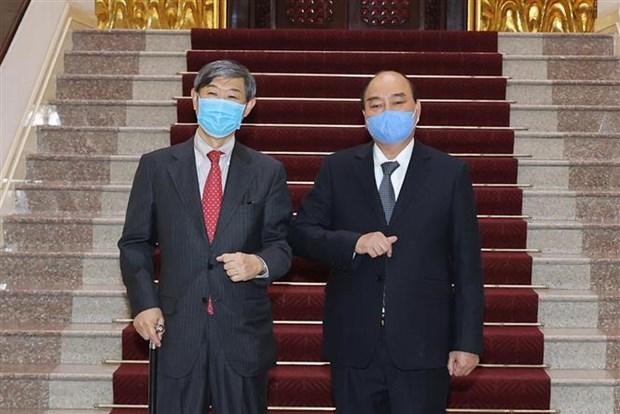 越南政府总理阮春福会见日本国际协力机构主席北冈伸一 hinh anh 2