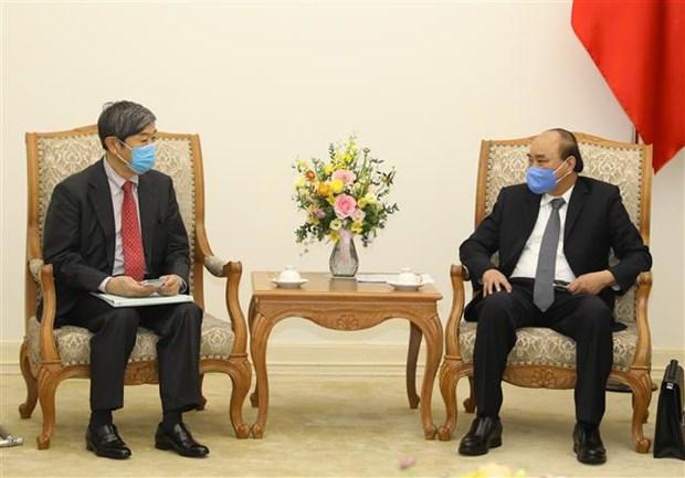 越南政府总理阮春福会见日本国际协力机构主席北冈伸一 hinh anh 1