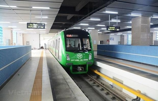 河内轻轨吉灵—河东线投入试运行 hinh anh 1