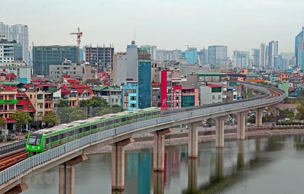 河内轻轨吉灵—河东线投入试运行 hinh anh 3