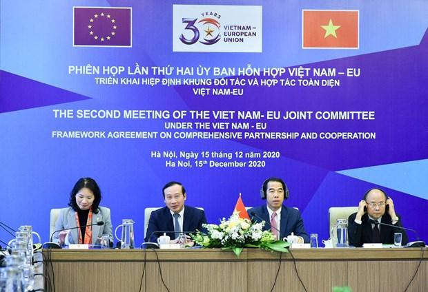 推动落实越南与欧盟全面合作伙伴关系协定混合委员会发表联合公报 hinh anh 1