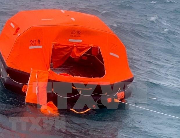 巴拿马籍货轮在平顺省富贵岛附近沉没事故:紧急搜寻2名失踪船员 hinh anh 1