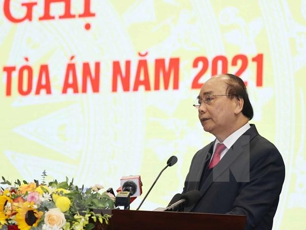 """政府总理阮春福:力争将法院建设成为""""保护正义的城堡"""" hinh anh 1"""