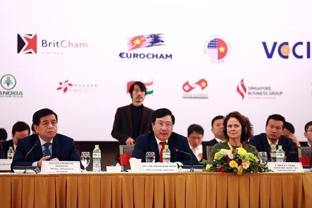 越南政府副总理范平明出席2020年越南企业论坛 hinh anh 1