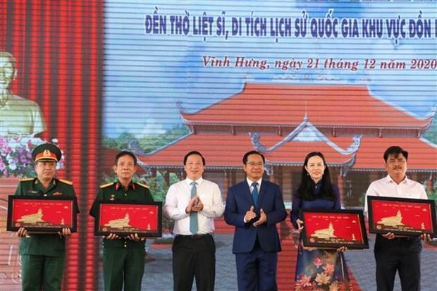 张和平出席隆安省龙矻哨所国家级历史遗迹烈士纪念馆竣工仪式 hinh anh 2