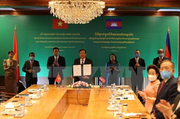 柬埔寨与越南关系迎来历史性时刻 hinh anh 1