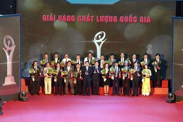 61家越南企业荣获2020年国家质量奖 hinh anh 1