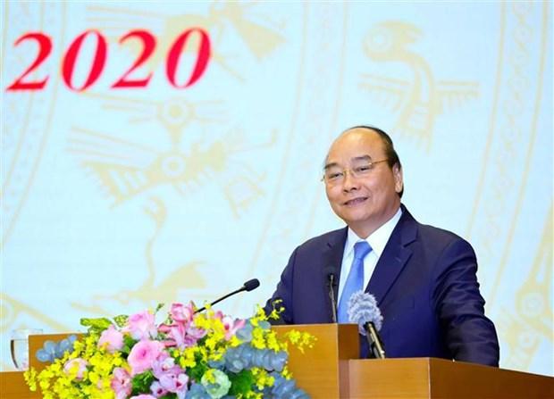 阮春福总理:政府办公厅要力争建设成为模范、专业、现代化和有效的行政机关 hinh anh 1