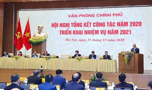 阮春福总理:政府办公厅要力争建设成为模范、专业、现代化和有效的行政机关 hinh anh 2