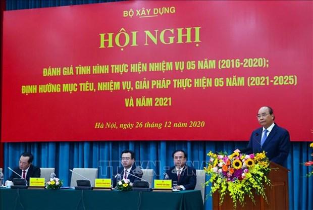 政府总理阮春福:建筑行业需关注居民的住房需求 hinh anh 1