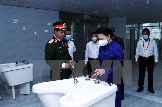 越南国会主席阮氏金银:将175号军医院建成现代化多功能的医疗中心 hinh anh 2