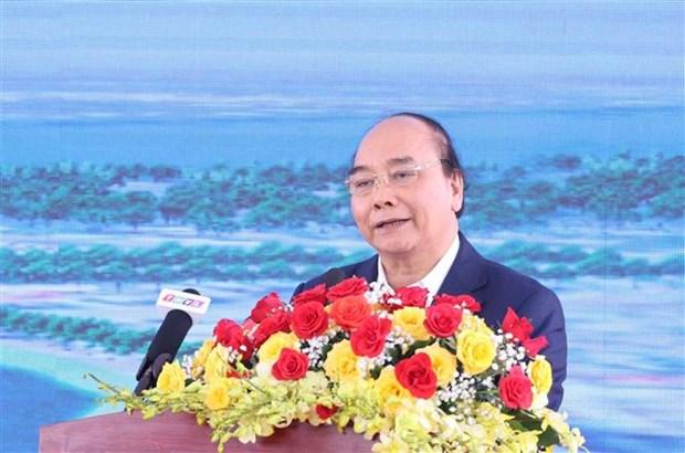 阮春福出席南部各重点高速公路项目动工仪式和技术通车仪式 hinh anh 2