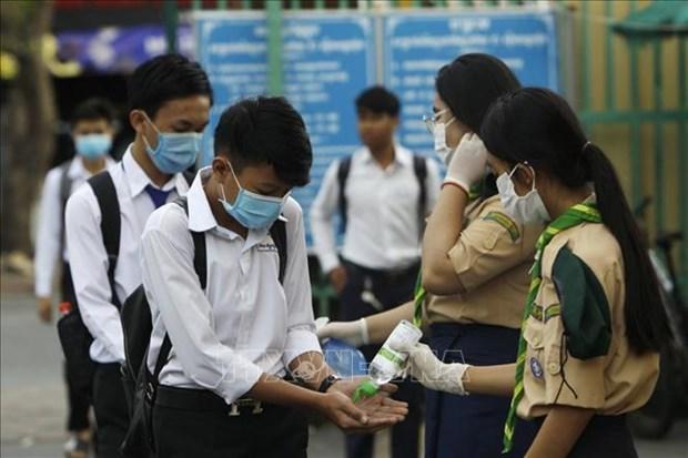 柬埔寨部分边境省份考虑推迟重新开放学校时间 hinh anh 1