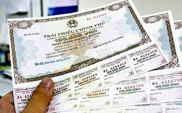 2020年越南通过政府债券招标筹集324万亿越盾 hinh anh 1