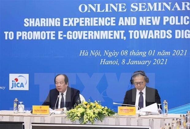 分享日本的经验与新政策 促进电子政务发展 逐步打造数字政府 hinh anh 1