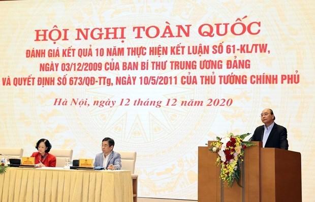 政府总理阮春福:力争建设繁荣农业、富农和现代农村 hinh anh 1