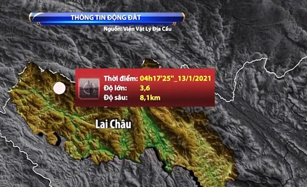 越南莱州省芒斜县13日发生轻微地震 不会引发自然灾害风险 hinh anh 1