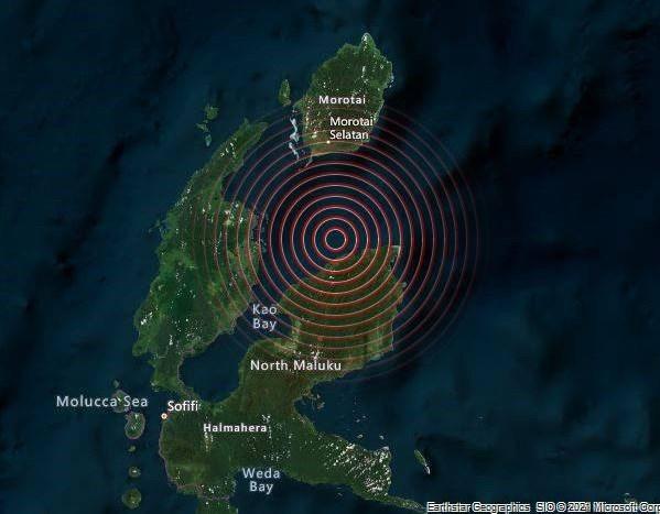 印度尼西亚发生5.9级地震 hinh anh 1