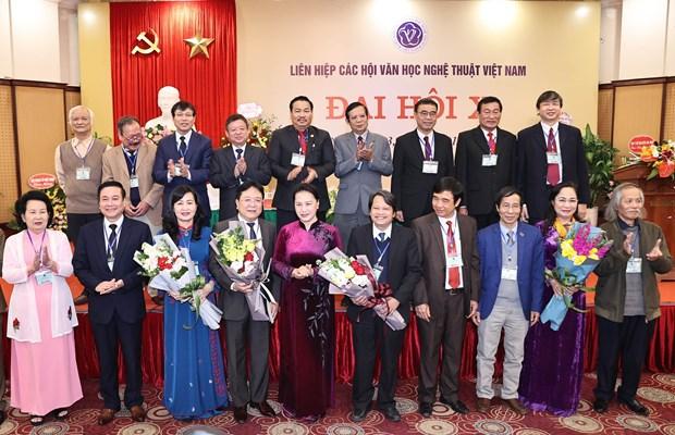 越南国会主席阮氏金银出席越南文学艺术协会联合会全国代表大会 hinh anh 2