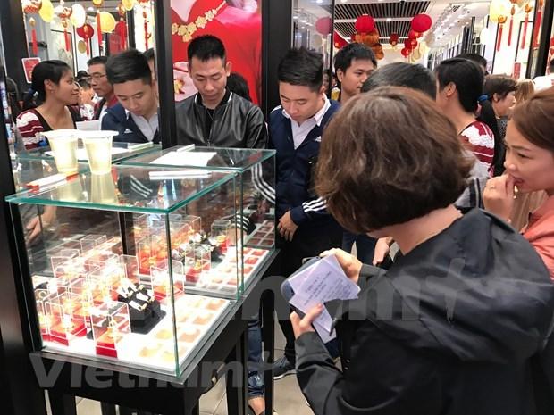 14日上午越南国内市场黄金价格保持稳定 hinh anh 1