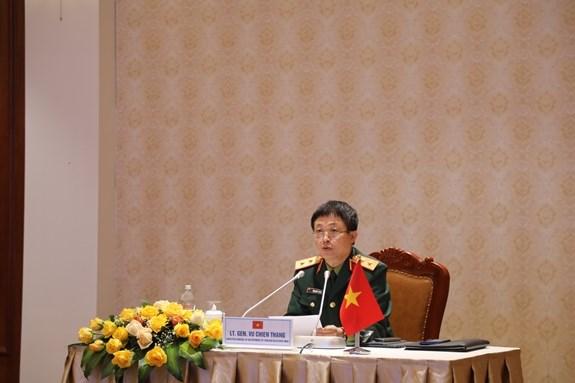 越南国防部代表出席香格里拉对话预备会议——第九次富丽敦论坛 hinh anh 1