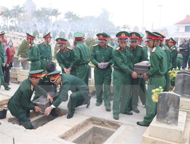 奠边省为在老牺牲的越南志愿军烈士举行追悼会 hinh anh 1