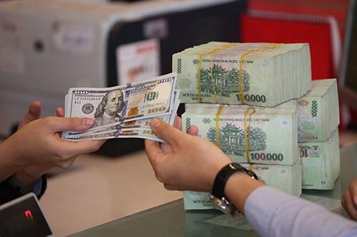 今日上午越盾对美元汇率中间价持续上调 hinh anh 1