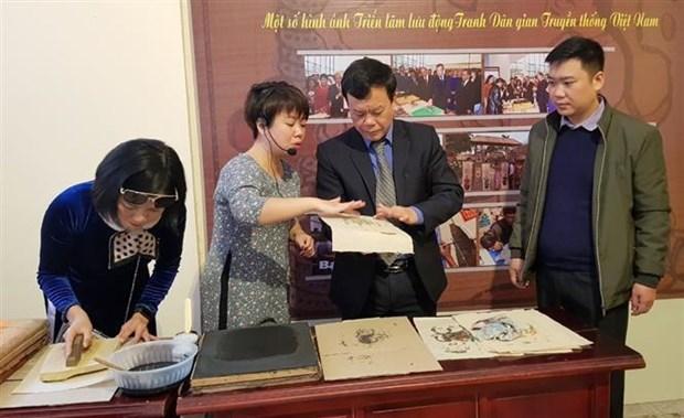 越南传统民间绘画展开展 hinh anh 2