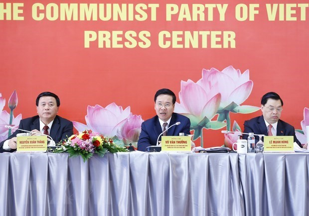 代表全国510多万名党员的1587名代表出席出席越共十三大 hinh anh 1