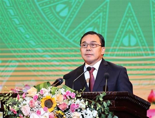 老挝驻越大使高度评价越共十三大的筹备工作 hinh anh 1