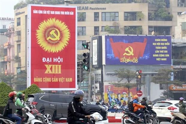 老挝驻越大使高度评价越共十三大的筹备工作 hinh anh 3
