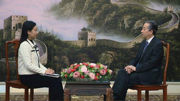中国驻越大使熊波:越共十三大的胜利召开必将为越南经济社会发展注入新的动力和巨大稳定性 hinh anh 2