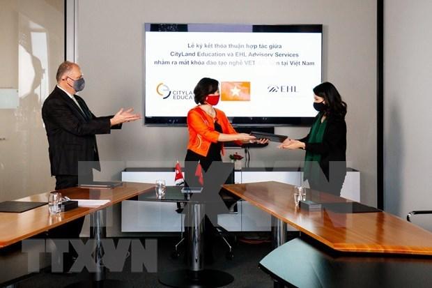 越南Cityland Education与瑞士洛桑酒店管理学院加强合作 hinh anh 1