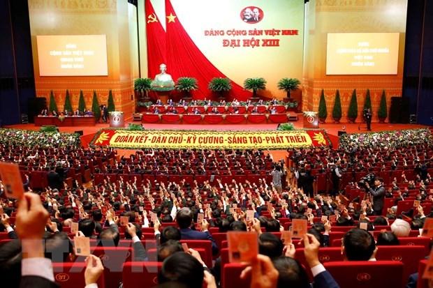 越南共产党第十三次全国代表大会今天上午正式开幕 hinh anh 1