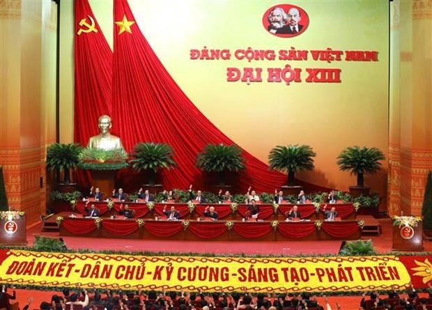 外国政党、组织和国际友人祝贺越共十三大召开 hinh anh 1