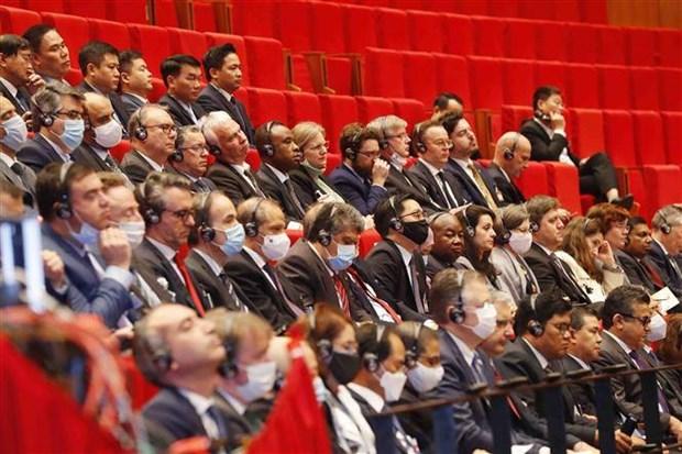 老挝人民革命党中央委员会致电祝贺越共十三大召开 hinh anh 1