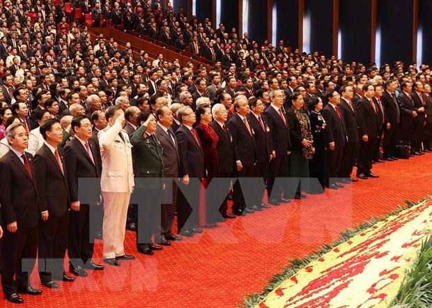 越南共产党第十三次全国代表大会隆重开幕 hinh anh 2